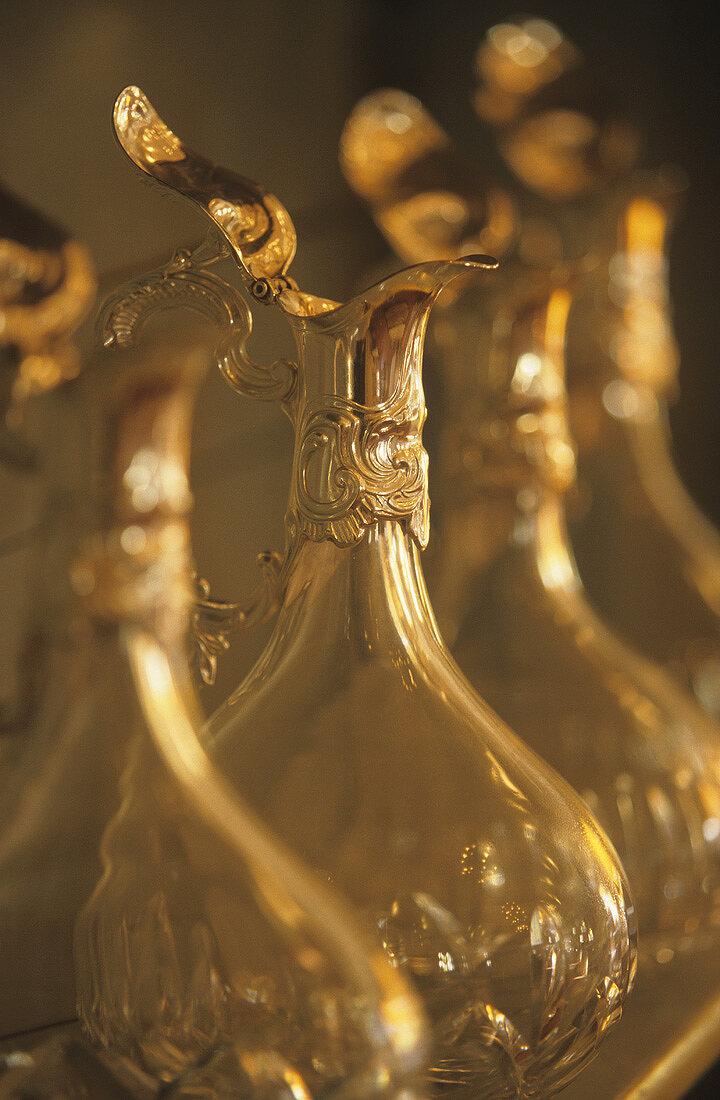 Several elegant carafes, Reims, France