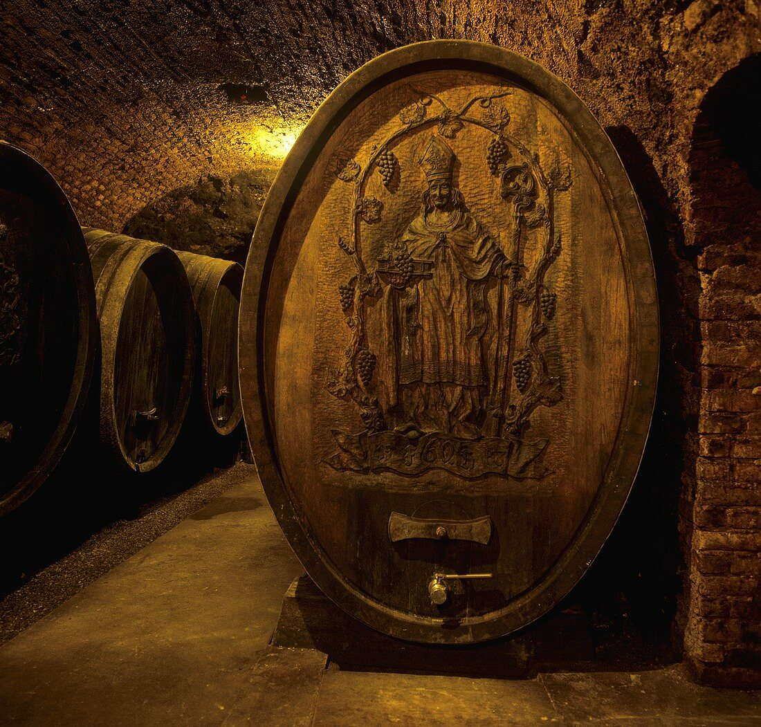Wine cellar of FX Pichler, Loiben, Wachau, Austria