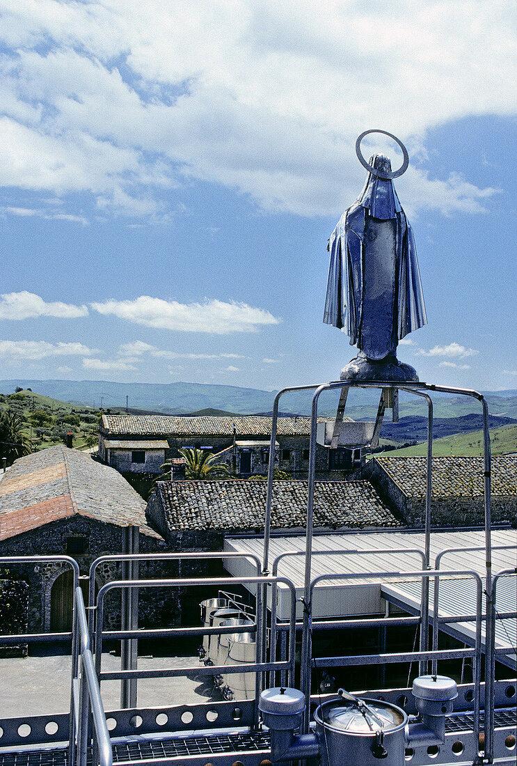 Tasca Almerita, statue of the Madonna, Regaleali Estate, Italy