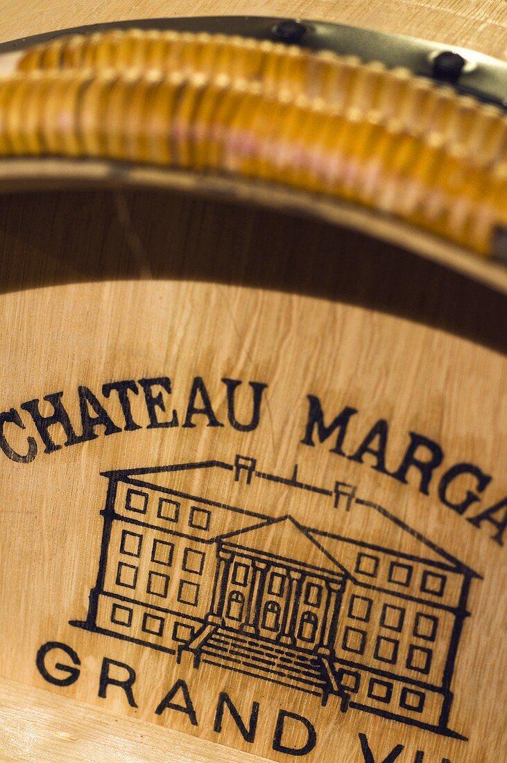 Barrique with inscription, Château Margaux, 1er Cru, Margaux