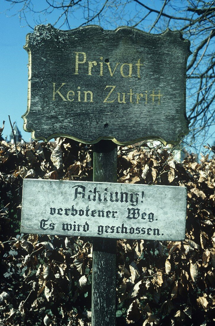 Sign near Lake Constance, Germany