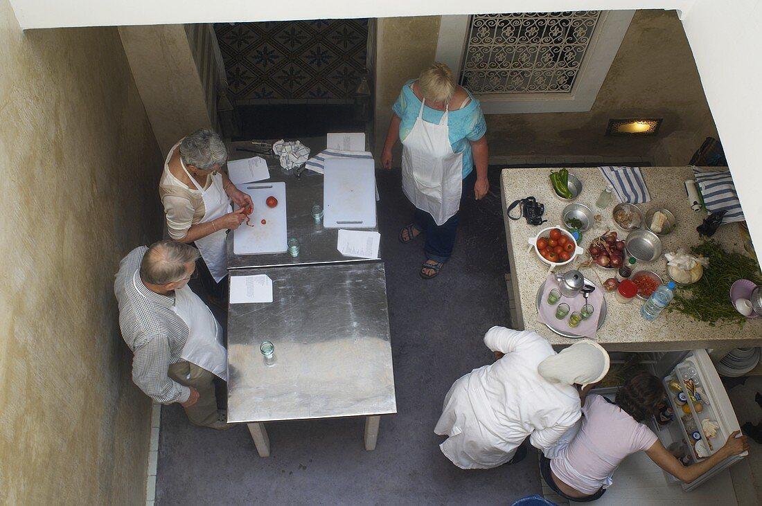 Workshop in a Moroccan kitchen