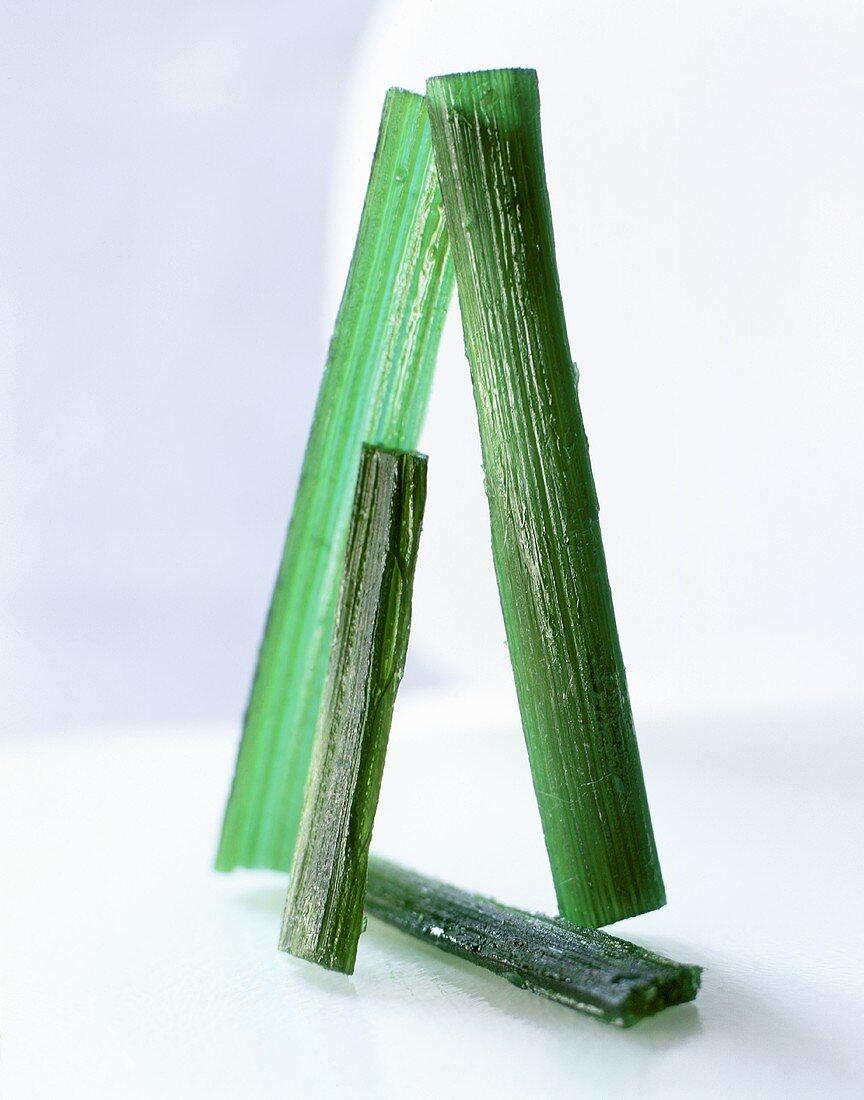 Sugar sticks made of water, sugar and angelica
