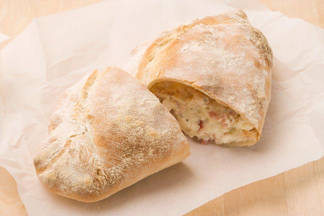 Calzone (stuffed pizza pockets, Italy)