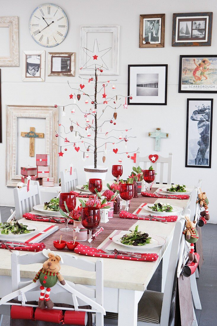 Laid Christmas table