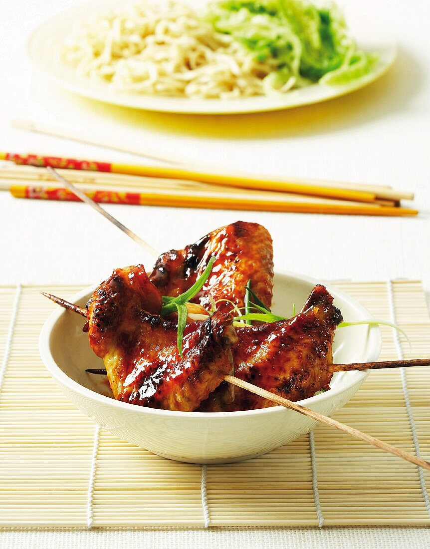 Marinated chicken wings with Asian spices