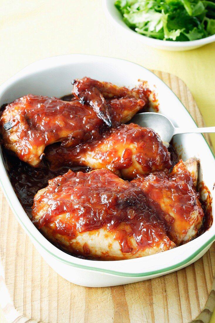 Sticky chicken (Chicken with marinade)