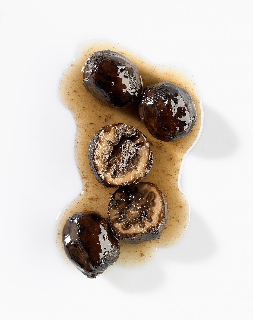Black walnuts (unripe pickled walnuts) with syrup
