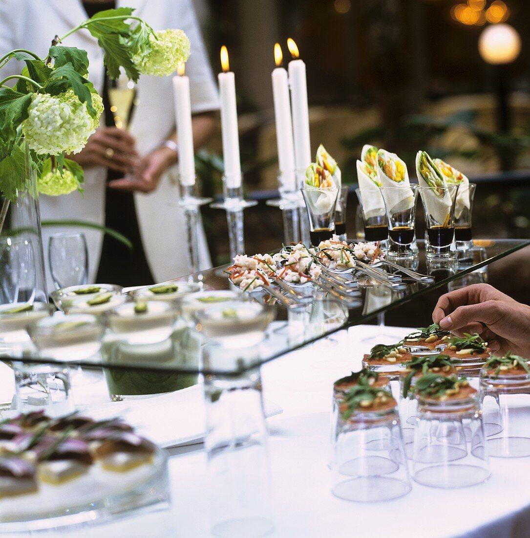 Festive appetiser buffet