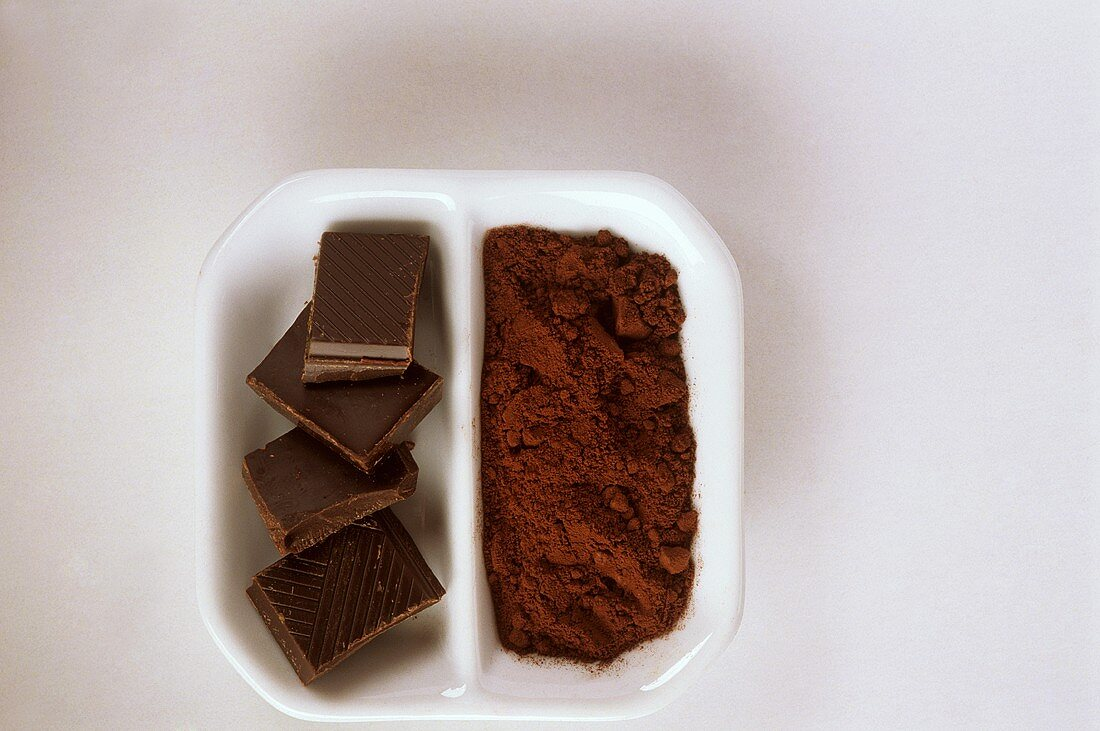Cocoa powder and bitter chocolate