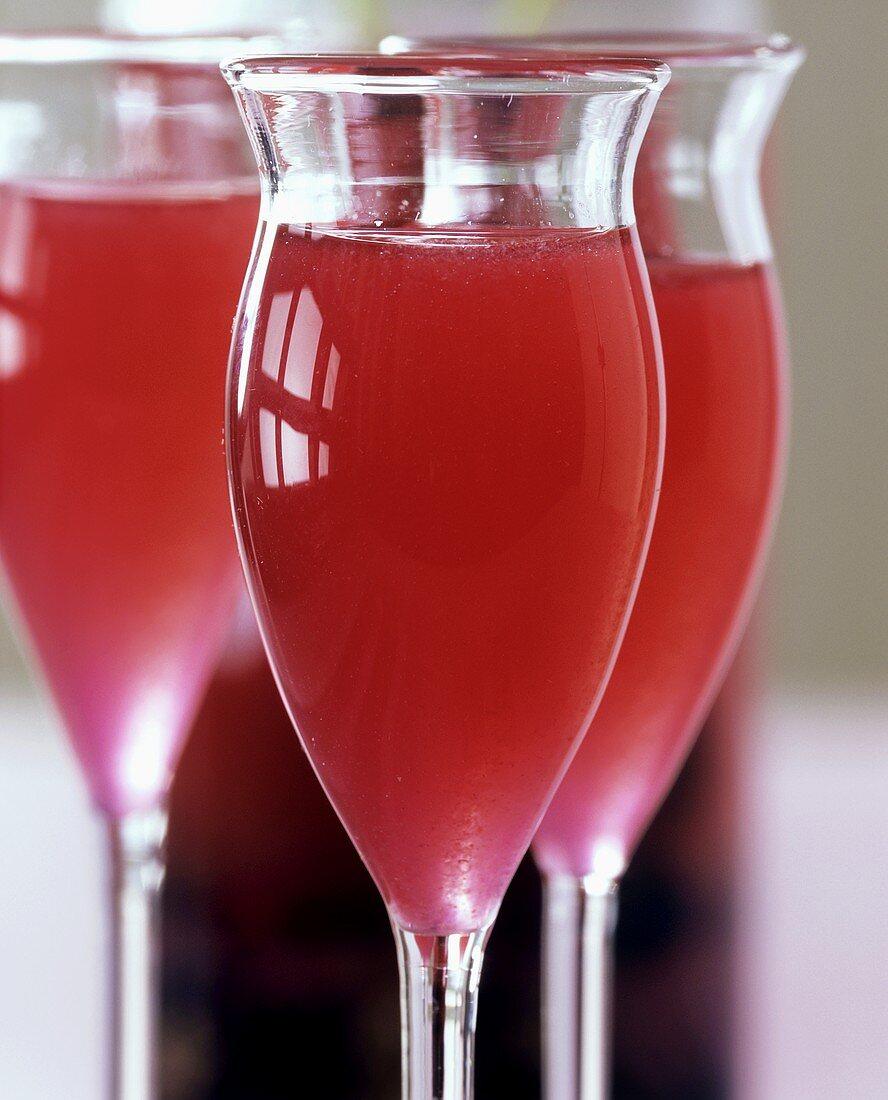 Home-made redcurrant and herb liqueur
