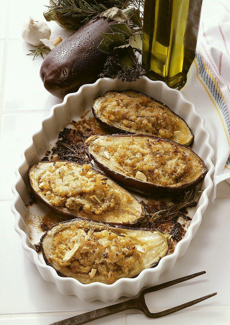 Stuffed Eggplants Lyon Style