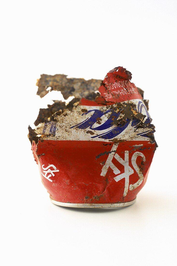 Half an old Cola tin