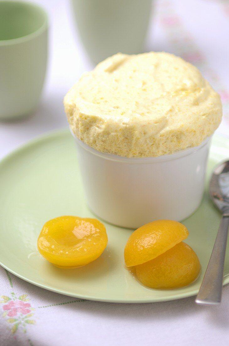 Apricot soufflé