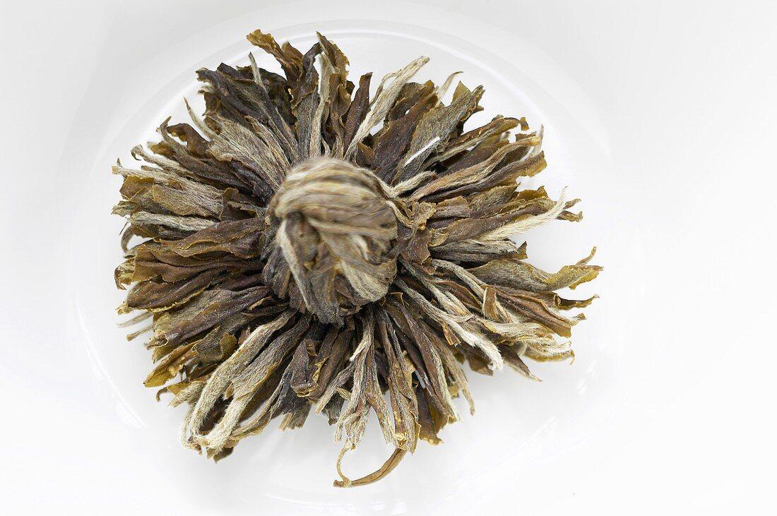 'Jin Shang Tian Hua' tea bloom (green tea, China)