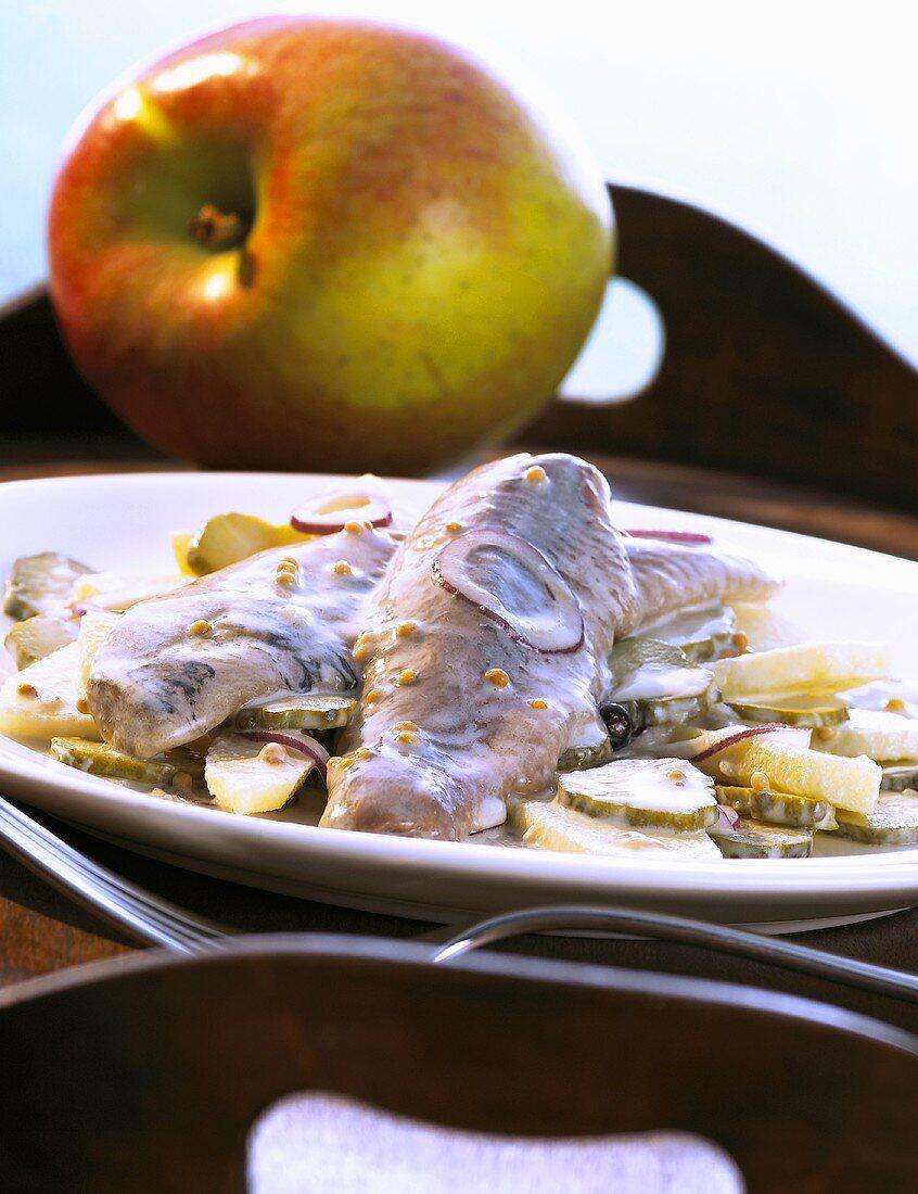 Matje herrings with apple cream