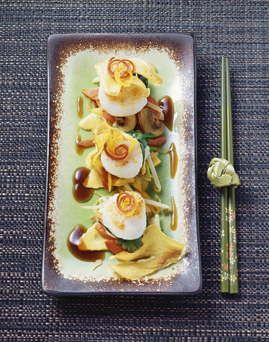 Scallop chop suey