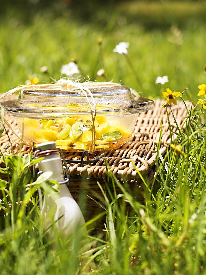 Fruit salad for a picnic