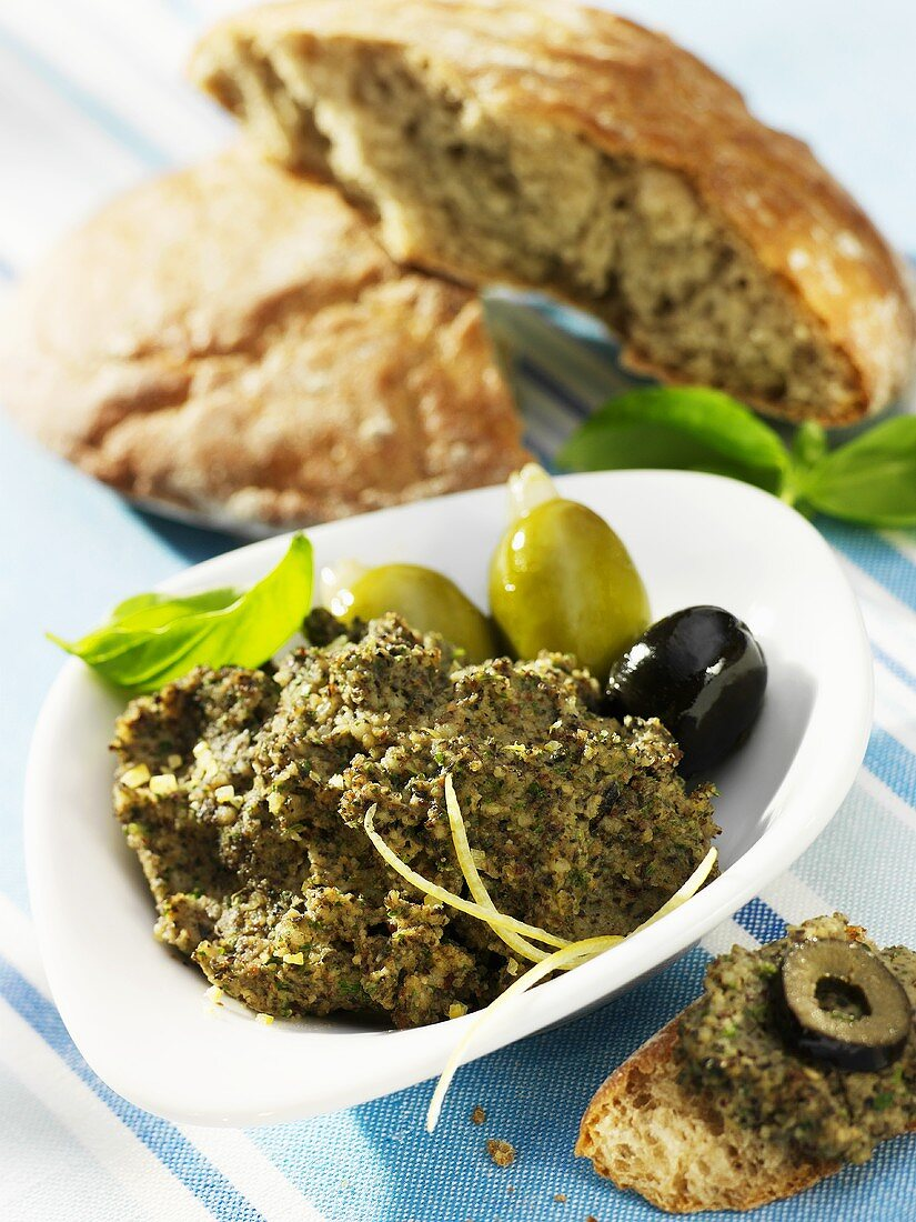 Olive and basil paste