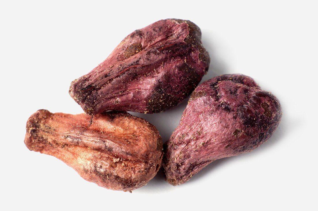 Three grape seeds
