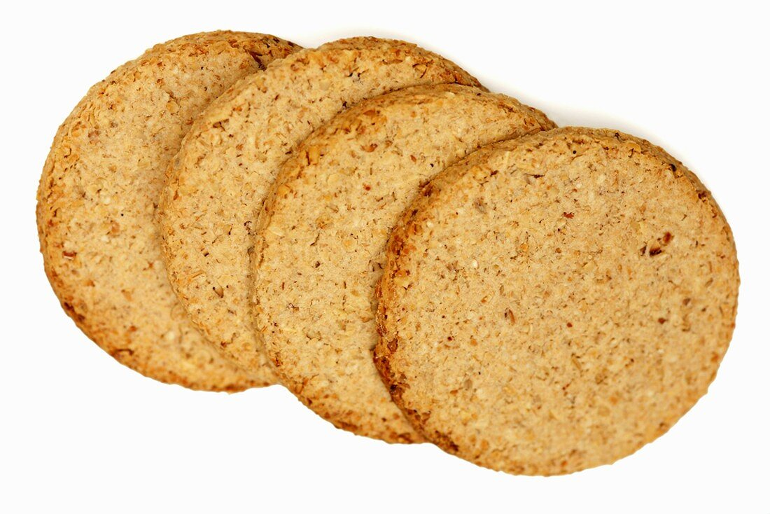 Four oatcakes (Flat oatmeal cakes, Scotland)