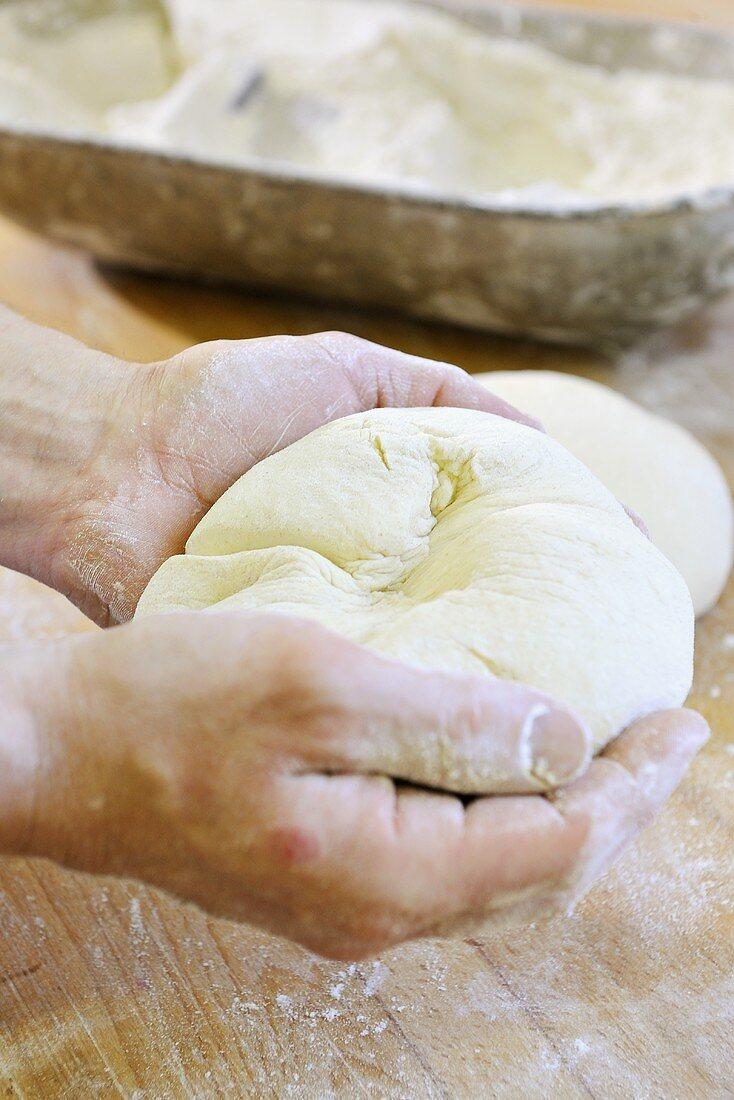 Shaping bread dough