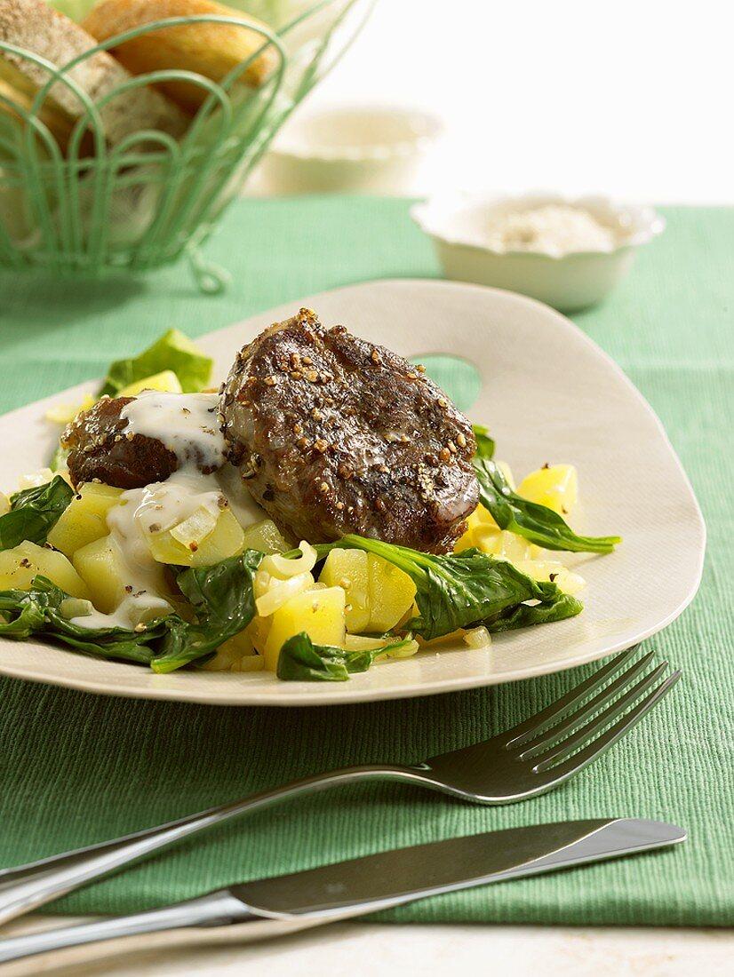 Stinco di vitello alla fiorentina (Veal shank with potatoes)