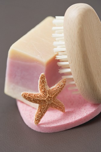 Soap with brush and sponge