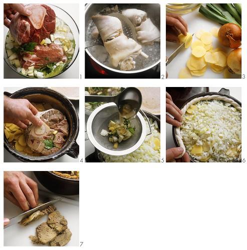 Baeckeofe: making meat stew