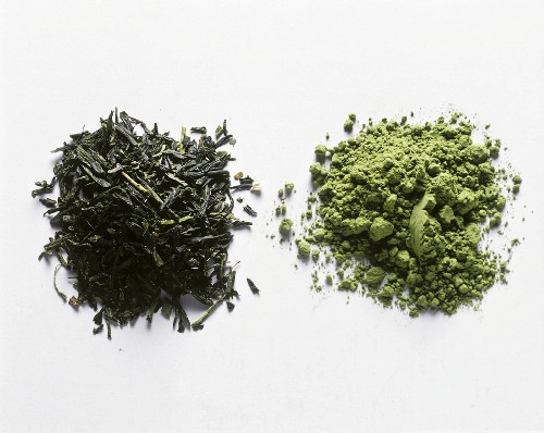 Two Piles of Green Tea