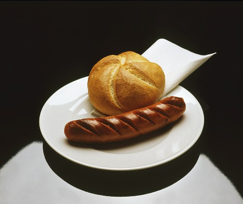 Bratwurst with a Roll