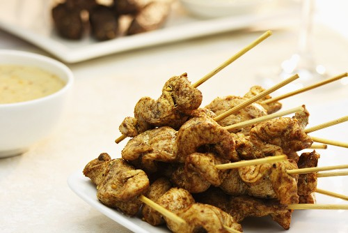 Chicken with satay sauce