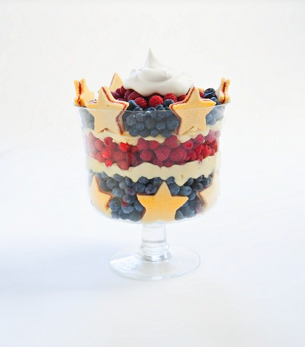 Stars and Stripes Trifle for Fourth of July