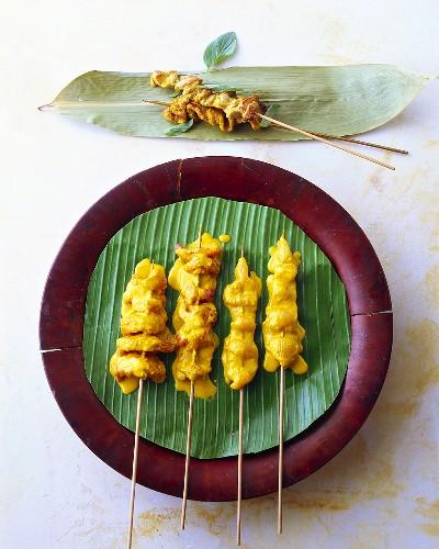 Muh satay (meat kebabs with peanut sauce, Thailand)