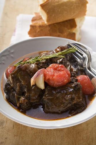 Osso buco alla toscana (Braised shin of veal, Italy)
