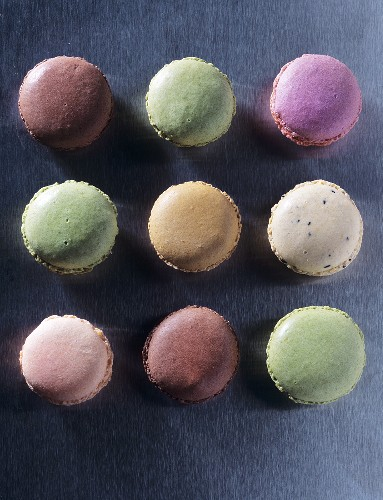 Assorted macarons (small French cakes)