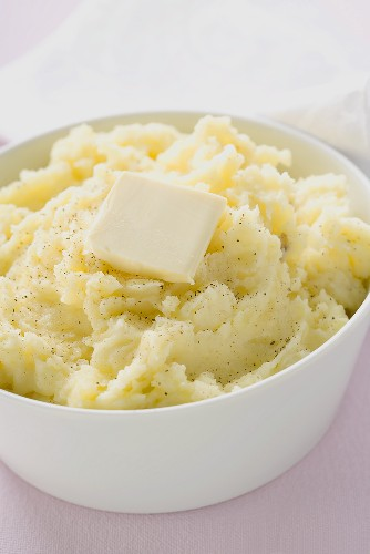 Mashed potato with a knob of butter