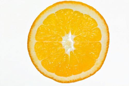 Slice of orange, backlit