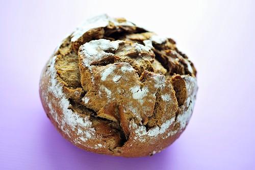 Brown farmhouse bread