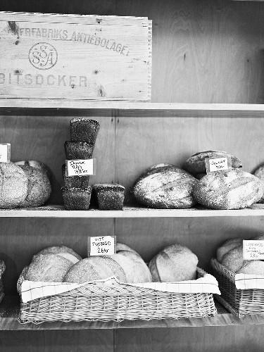 Bread in a Swedish baker's shop
