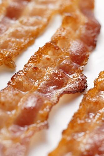 Fried bacon rashers