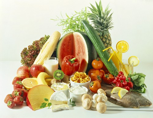 Healthy foods (cooling foods according to ying yang system)