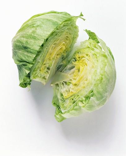 A head of iceberg lettuce (from Spain)
