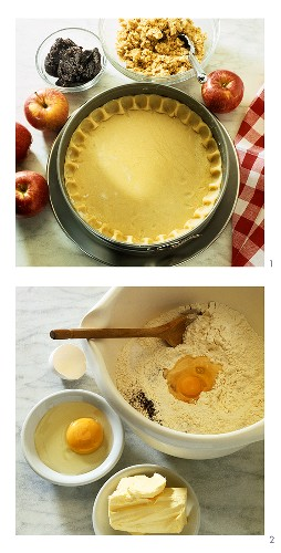Baking an apple and poppy seed tart for Christmas