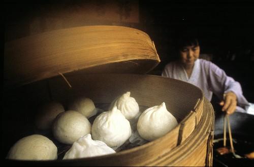 Woman Preparing Dim Sum