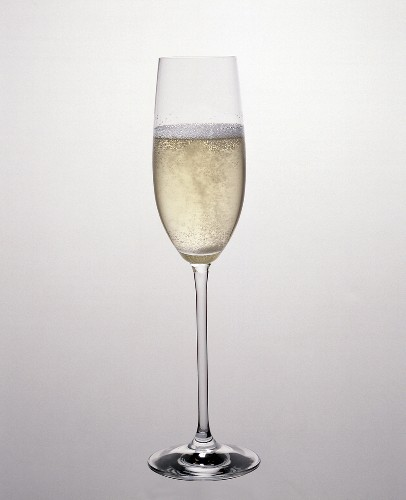 A Glass of Champagne in a Champagne Flute
