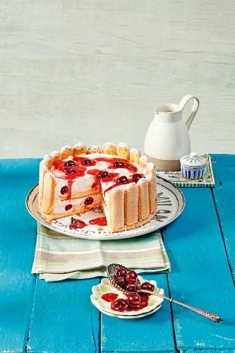 Torta di Mascarpone (with sponge fingers and cherries)