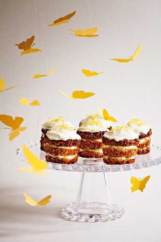 Courgette cupcakes with lemon curd and cream cheese frosting