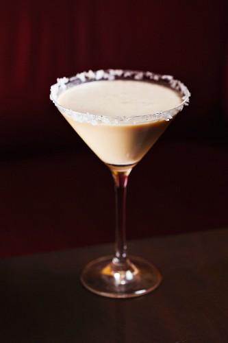 Caramel Martini with Sugared Rim