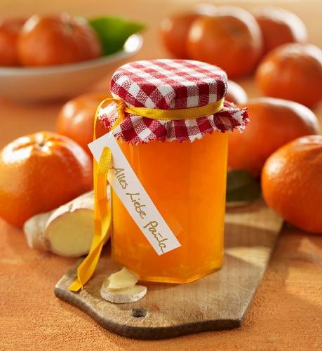 Mandarin jam with ginger